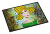 Bee Grateful Girl with Beehive Indoor or Outdoor Mat 24x36 VHA3008JMAT - the-store.com
