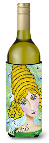 Buy this Bee Grateful Girl with Beehive Wine Bottle Beverage Insulator Hugger VHA3008LITERK