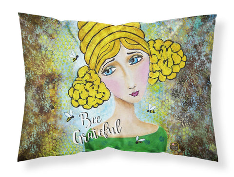 Buy this Bee Grateful Girl with Beehive Fabric Standard Pillowcase VHA3008PILLOWCASE