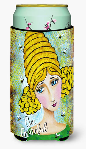 Buy this Bee Grateful Girl with Beehive Tall Boy Beverage Insulator Hugger VHA3008TBC