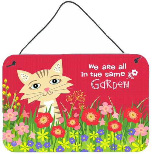 Garden Cat Wall or Door Hanging Prints VHA3009DS812 by Caroline's Treasures