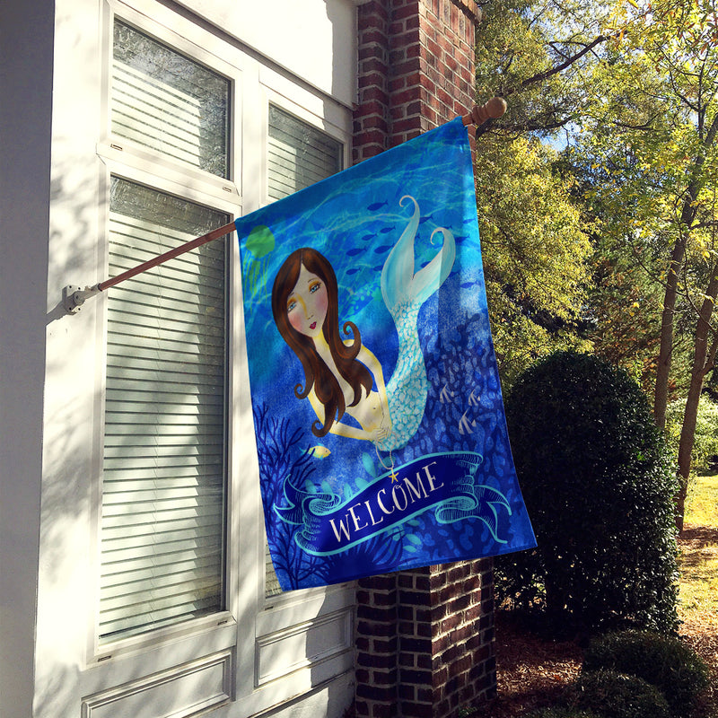 Buy this Welcome Mermaid Flag Canvas House Size VHA3010CHF