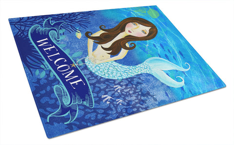Buy this Welcome Mermaid Glass Cutting Board Large VHA3010LCB