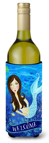 Buy this Welcome Mermaid Wine Bottle Beverage Insulator Hugger VHA3010LITERK
