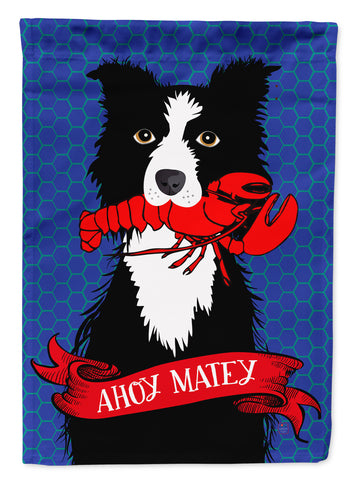 Buy this Ahoy Matey Nautical Border Collie Flag Canvas House Size VHA3011CHF