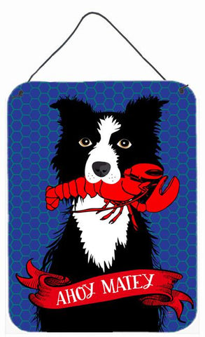 Buy this Ahoy Matey Nautical Border Collie Wall or Door Hanging Prints VHA3011DS1216