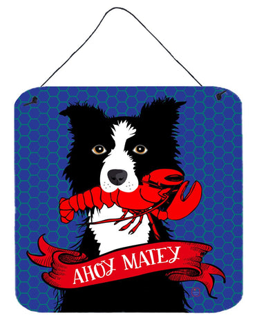 Buy this Ahoy Matey Nautical Border Collie Wall or Door Hanging Prints VHA3011DS66