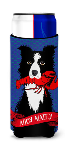 Buy this Ahoy Matey Nautical Border Collie Michelob Ultra Beverage Insulators for slim cans VHA3011MUK