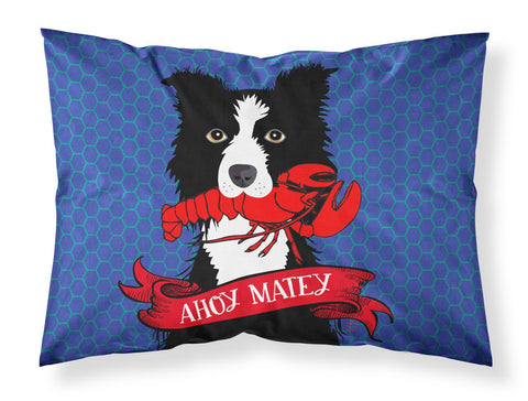 Buy this Ahoy Matey Nautical Border Collie Fabric Standard Pillowcase VHA3011PILLOWCASE