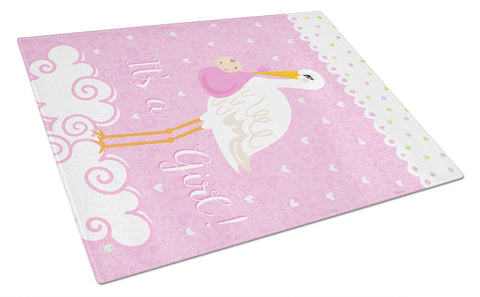 Buy this It's a Baby Girl Glass Cutting Board Large VHA3013LCB