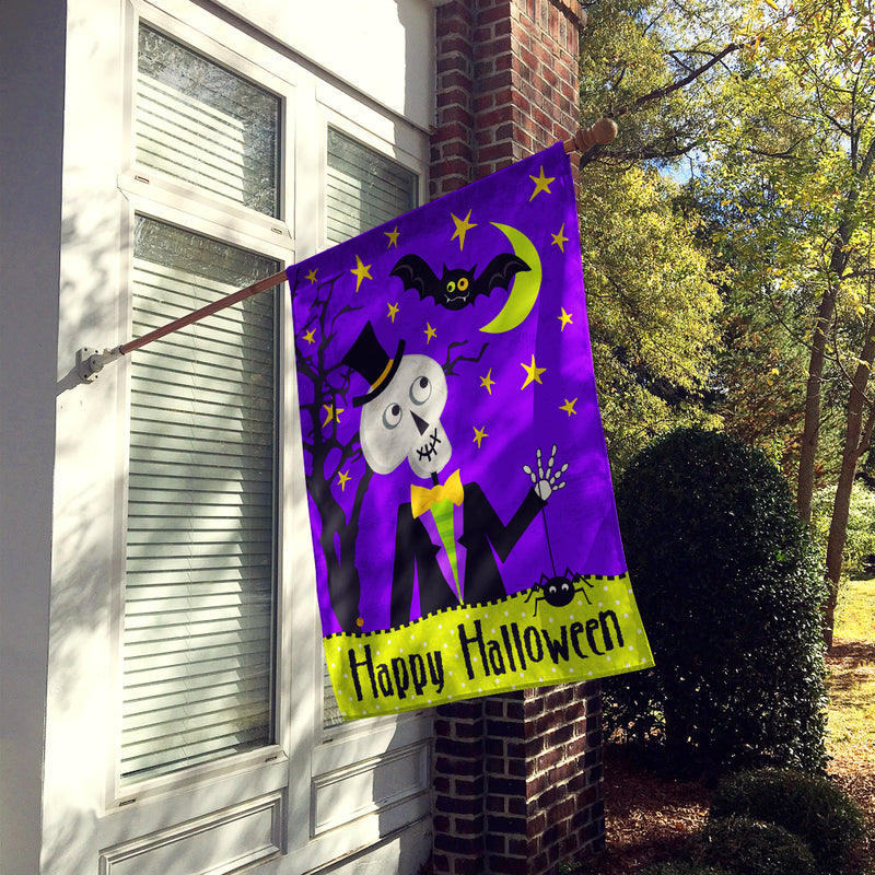 Buy this Happy Halloween Skeleton Flag Canvas House Size VHA3014CHF