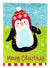 Buy this Merry Christmas Happy Penguin Flag Canvas House Size VHA3015CHF