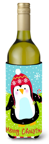 Buy this Merry Christmas Happy Penguin Wine Bottle Beverage Insulator Hugger VHA3015LITERK