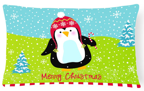 Buy this Merry Christmas Happy Penguin Fabric Decorative Pillow VHA3015PW1216