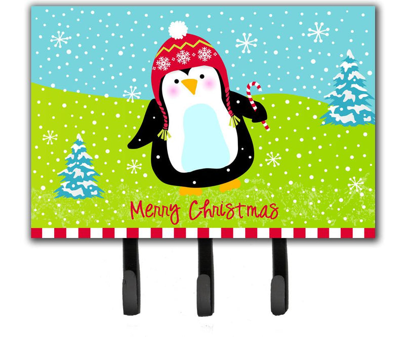 Buy this Merry Christmas Happy Penguin Leash or Key Holder VHA3015TH68
