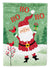 Buy this Merry Christmas Santa Claus Ho Ho Ho Flag Canvas House Size VHA3016CHF