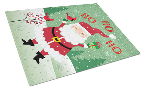 Buy this Merry Christmas Santa Claus Ho Ho Ho Glass Cutting Board Large VHA3016LCB