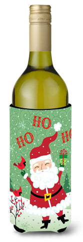 Buy this Merry Christmas Santa Claus Ho Ho Ho Wine Bottle Beverage Insulator Hugger VHA3016LITERK