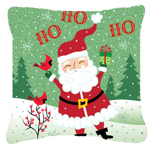Merry Christmas Santa Claus Ho Ho Ho Fabric Decorative Pillow by Caroline's Treasures