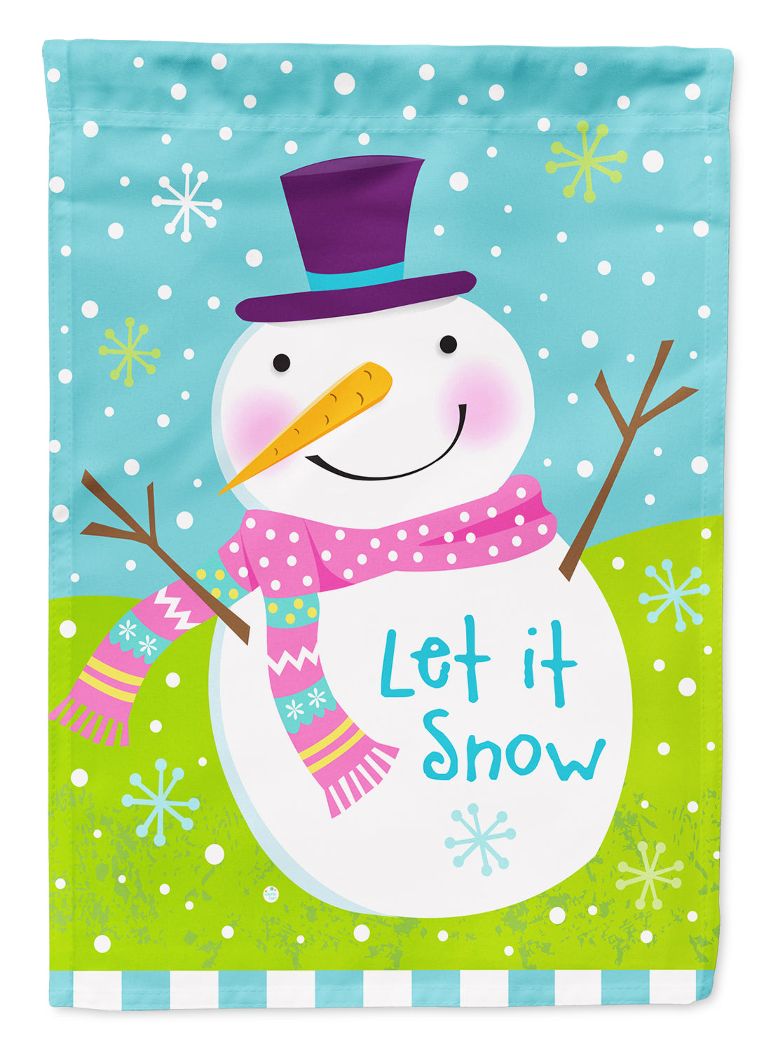 Buy this Christmas Snowman Let it Snow Flag Canvas House Size VHA3017CHF