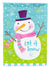 Christmas Snowman Let it Snow Flag Canvas House Size VHA3017CHF by Caroline's Treasures