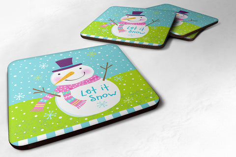 Buy this Christmas Snowman Let it Snow Foam Coaster Set of 4 VHA3017FC