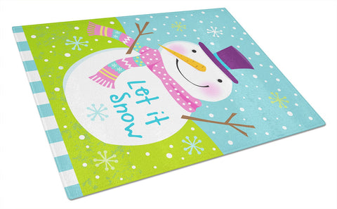 Buy this Christmas Snowman Let it Snow Glass Cutting Board Large VHA3017LCB