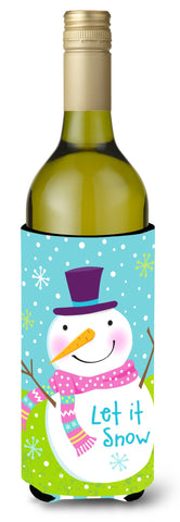 Buy this Christmas Snowman Let it Snow Wine Bottle Beverage Insulator Hugger VHA3017LITERK