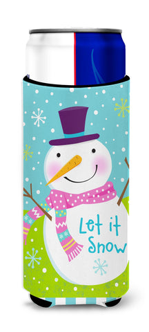 Buy this Christmas Snowman Let it Snow Michelob Ultra Beverage Insulators for slim cans VHA3017MUK