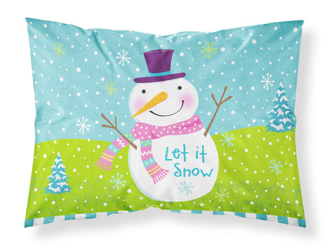 Buy this Christmas Snowman Let it Snow Fabric Standard Pillowcase VHA3017PILLOWCASE