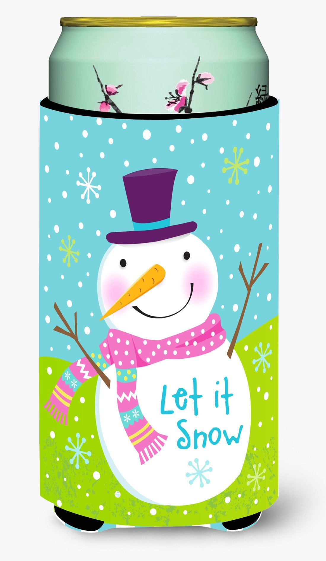 Christmas Snowman Let it Snow Tall Boy Beverage Insulator Hugger VHA3017TBC by Caroline's Treasures