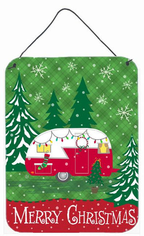 Buy this Christmas Vintage Glamping Trailer Wall or Door Hanging Prints VHA3018DS1216
