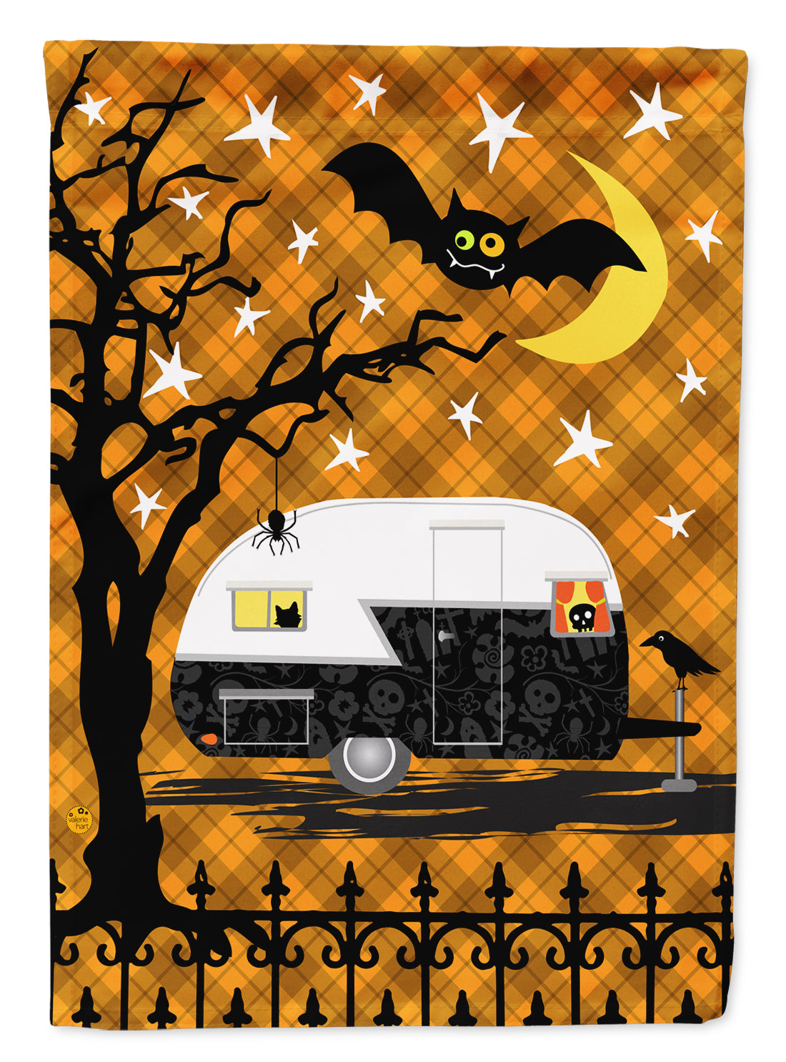 Halloween Vintage Camper Flag Canvas House Size VHA3020CHF by Caroline's Treasures
