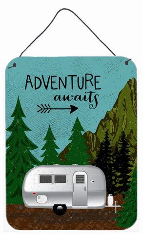 Buy this Airstream Camper Adventure Awaits Wall or Door Hanging Prints VHA3022DS1216