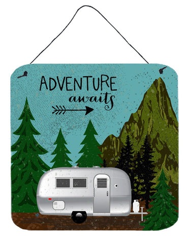 Buy this Airstream Camper Adventure Awaits Wall or Door Hanging Prints VHA3022DS66