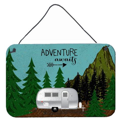 Buy this Airstream Camper Adventure Awaits Wall or Door Hanging Prints VHA3022DS812