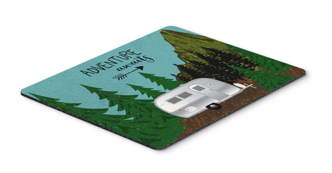 Buy this Airstream Camper Adventure Awaits Mouse Pad, Hot Pad or Trivet VHA3022MP