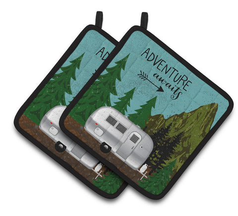 Buy this Airstream Camper Adventure Awaits Pair of Pot Holders VHA3022PTHD