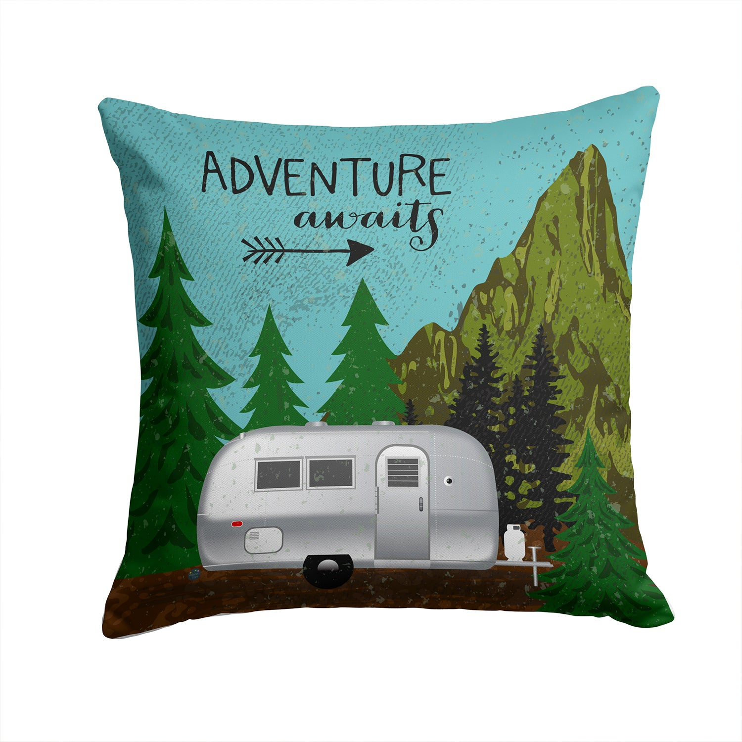 Buy this Airstream Camper Adventure Awaits Fabric Decorative Pillow VHA3022PW1414