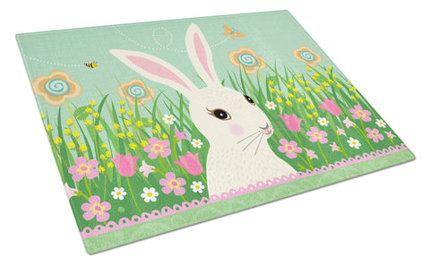 Buy this Easter Bunny Rabbit Glass Cutting Board Large VHA3023LCB