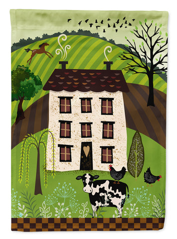Buy this Folk Art Country House Flag Canvas House Size VHA3024CHF