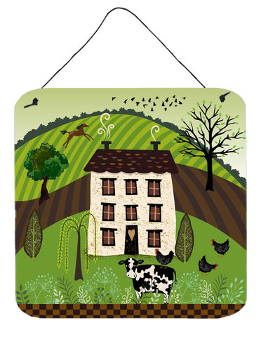 Buy this Folk Art Country House Wall or Door Hanging Prints VHA3024DS66