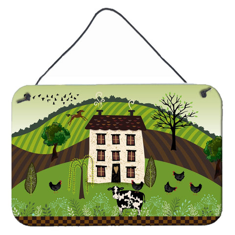 Buy this Folk Art Country House Wall or Door Hanging Prints VHA3024DS812