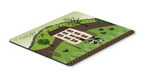 Buy this Folk Art Country House Mouse Pad, Hot Pad or Trivet VHA3024MP