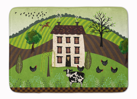 Buy this Folk Art Country House Machine Washable Memory Foam Mat VHA3024RUG