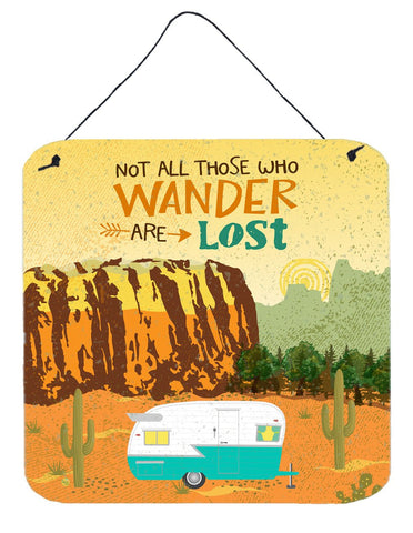 Buy this Retro Camper Camping Wander Wall or Door Hanging Prints VHA3025DS66