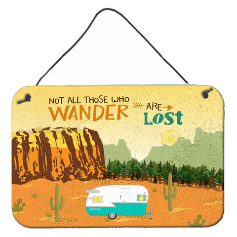 Buy this Retro Camper Camping Wander Wall or Door Hanging Prints VHA3025DS812