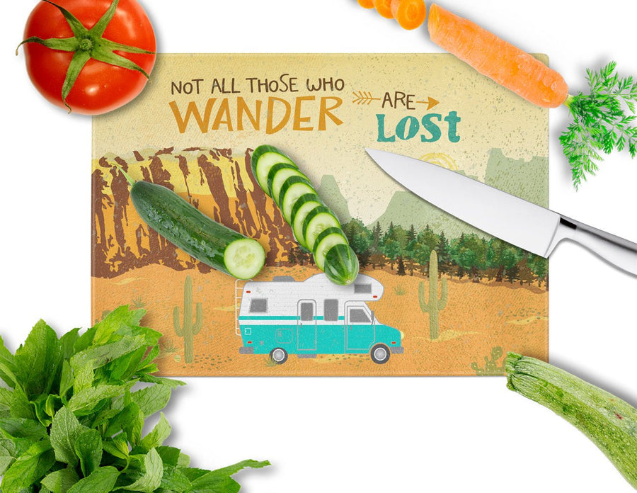 Buy this RV Camper Camping Wander Glass Cutting Board Large VHA3027LCB