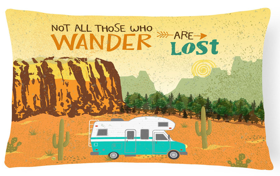 Buy this RV Camper Camping Wander Canvas Fabric Decorative Pillow VHA3027PW1216