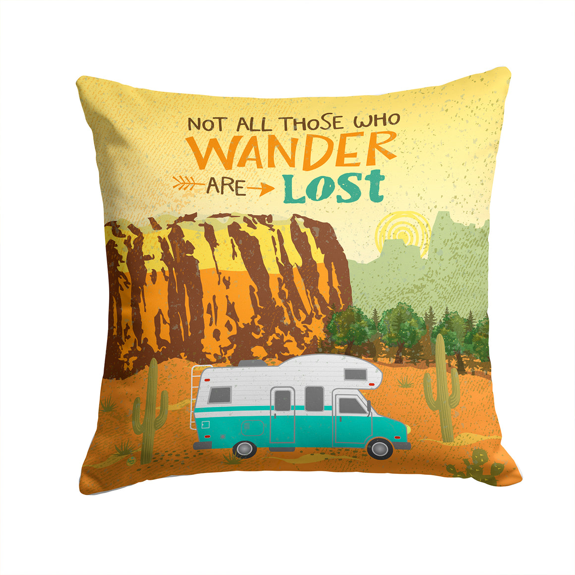 Buy this RV Camper Camping Wander Fabric Decorative Pillow VHA3027PW1414
